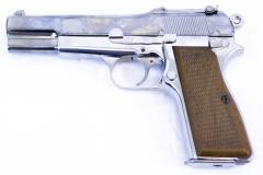 WE Browning Hi Power Silver Pistol