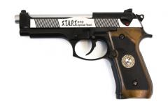 WE Biohazard M92 Gen2 Black/Silver Full Auto Pistol