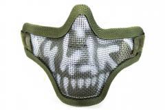 NP Mesh Lower Face Shield Skull - Green