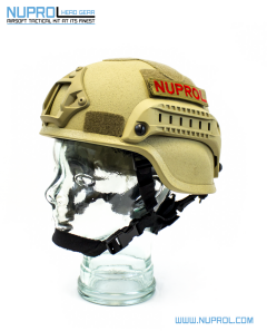 NP MICH 2000 Railed Helmet Tan