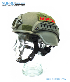 NP MICH 2000 Railed Helmet Green