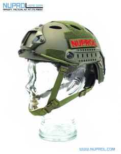 NP Fast Railed Helmet Green