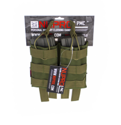 NP PMC M4 Double Open Mag Pouch - Green