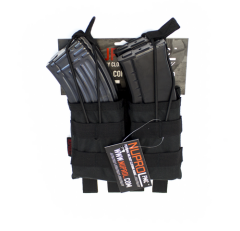 NP PMC AK Double Open Mag Pouch - Black
