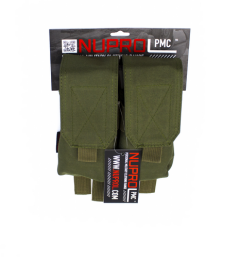 NP PMC M4 Double Flap Lid Mag Pouch - Green