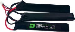NP Power 2600mAh 11.1V 20c Lipo Nunchuck Type