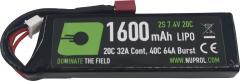 NP Power 1600mAh Lipo 7.4V 20C Stick - Deans