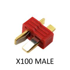 T-CONNECTOR MALE 100pk