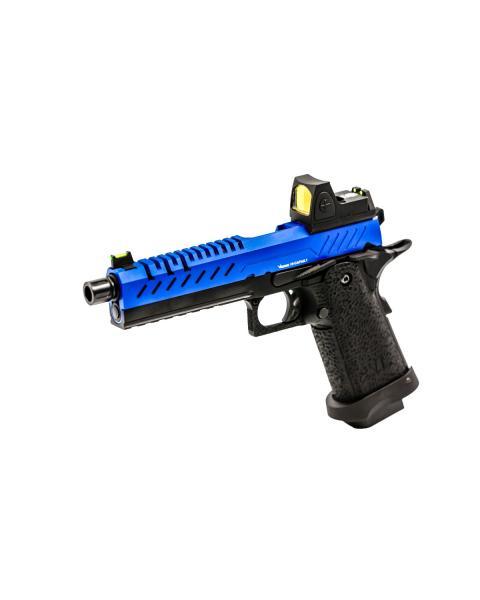 HI CAPA 5.1 BLUE SLIDE BLACK FRAME WITH RED DOT